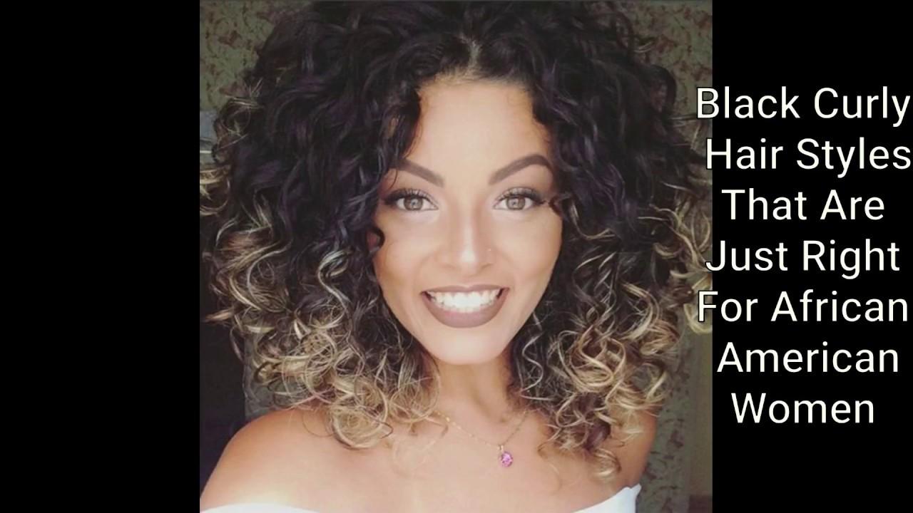 black curly hair styles
