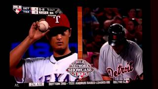 Yu Darvish curve makes Miguel Cabrera almost fall