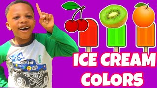ICE CREAM PRETEND PLAY | LEARNING COLORS OF ICE CREAM
