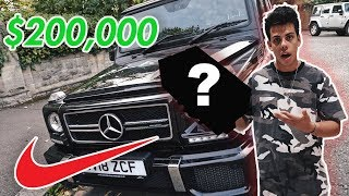 Nike delivered me RARE SNEAKERS in a $200,000 CAR!!!