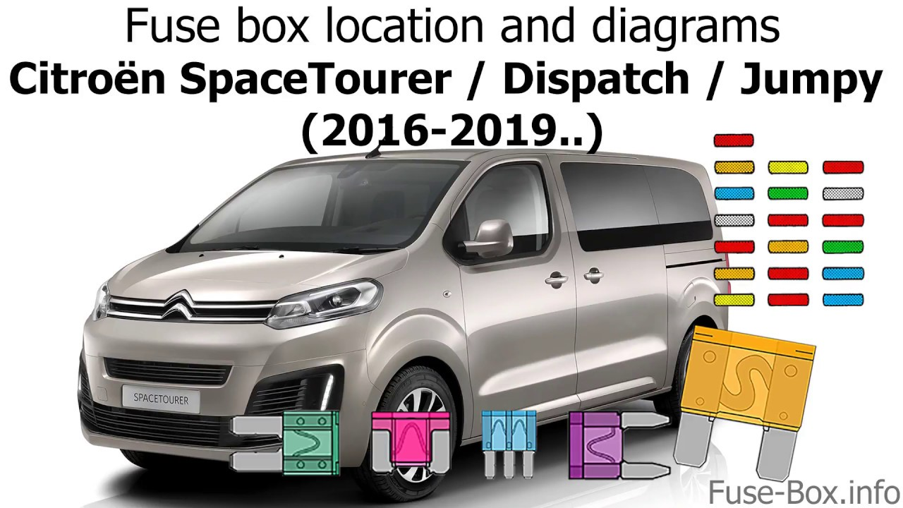 fuse box location and diagrams: citroen spacetourer (2016-2019  )