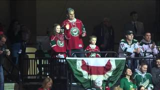 Jordyn Leopold Kicks Off Wild vs. Avalanche with Let's Play Hockey Call