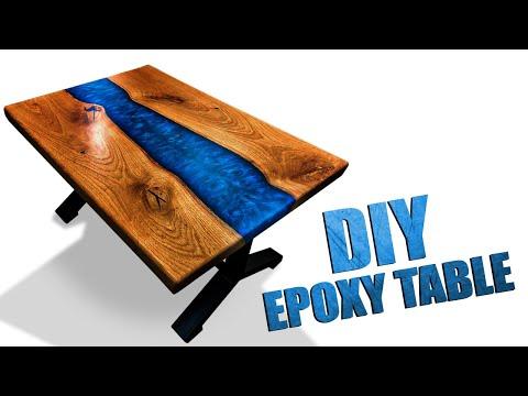 Стол-река из слэбов с эпоксидной смолой своими руками.Epoxy Resin river Table