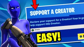 How to Get a SUPPORT-A-CREATOR CΟDE in Fortnite Season 8!