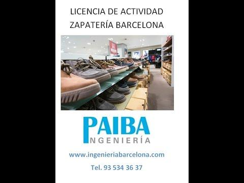 licencia de actividad o apertura zapater a barcelona
