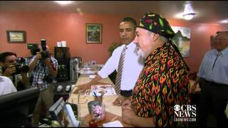 Obama: No onions for me, I have to kiss babies
