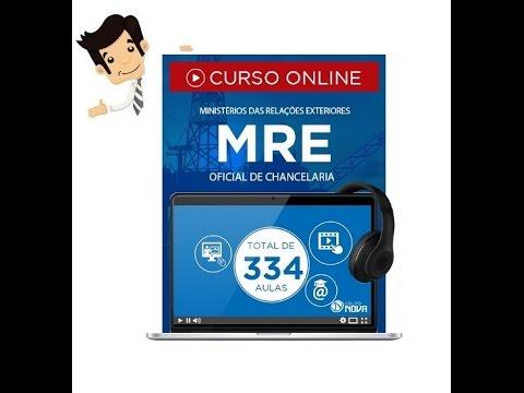 Curso Online do Concurso MRE 2016 - Oficial de Chancelaria