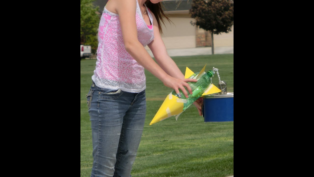 Water Bottle Rocket Science Project: How To Make Water Bottle Rocket With Launcher
