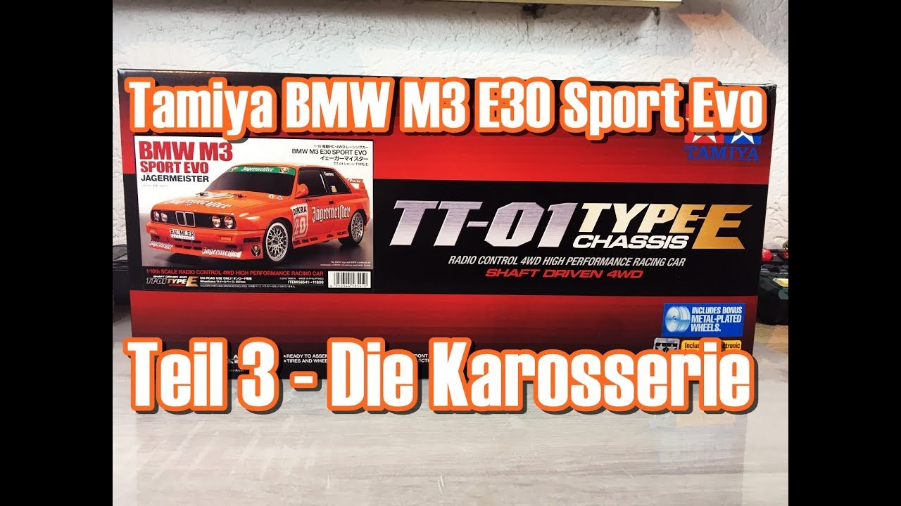 tamiya bmw m3 e30 sport evo tt 01 type e chassis teil 3 die karosserie [ 1280 x 720 Pixel ]