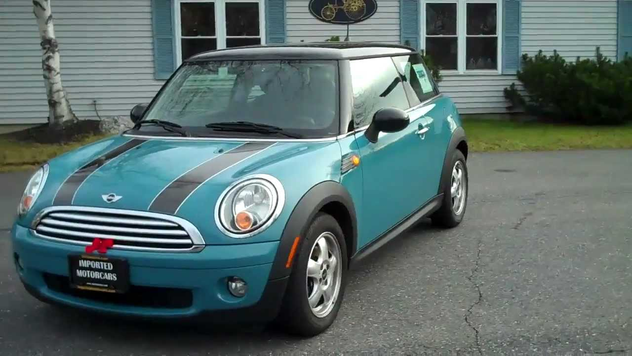 used 2009 mini cooper in oxygen blue for sale in portland, me - youtube