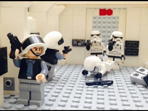 Lego Star Wars A New Hope Opening Scene Tantive Iv Boarding Party Youtube