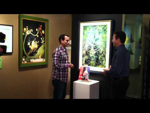 "Dr Seuss Art Show on ""Good Day Oregon, Fox 12"" filmed at Shaffer Fine Art Gallery"