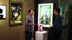"Dr Seuss Art Show on ""Good Day Oregon, Fox 12"" filmed at Shaffer Fine Art Gallery"