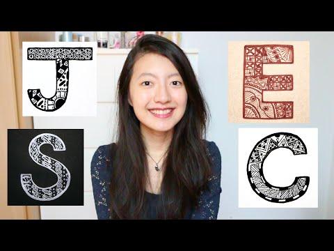 13 Letters, 43 Zentangle Patterns | Jessie