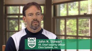John Stewart, VP & Chief Security Officer, Cisco Systems, visits Tuck School of Business