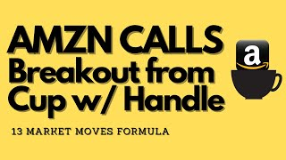 AMZN CALLS: break out from cup with a handle today 9:30 am July 6
