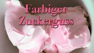 Sara Kocht: Rezept für farbigen Zuckerguss (Profimässig)