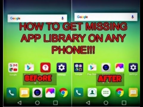 How to get app drawer back on any LG