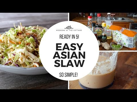 EASY ASIAN SLAW | Ready in 5 Minutes!!!!