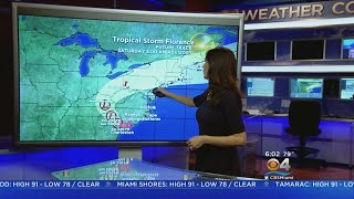 Tracking Tropical Storm Florence: Florence Weakening, But Causing Catastrosphic Flooding