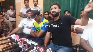 Kashmir based international cricketer talking about Rasikh Salam's fake date of birth row