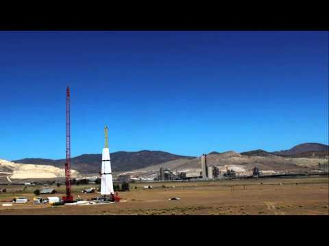 Time Lapse of GE Space Frame Tower Installation