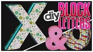 diy block letters do it gurl