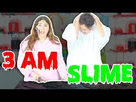 DO NOT MAKE SLIME AT 3 AM!!!! GONE WRONG!! SUPER SCARY! Slimeatory #52 (maybe the last one)
