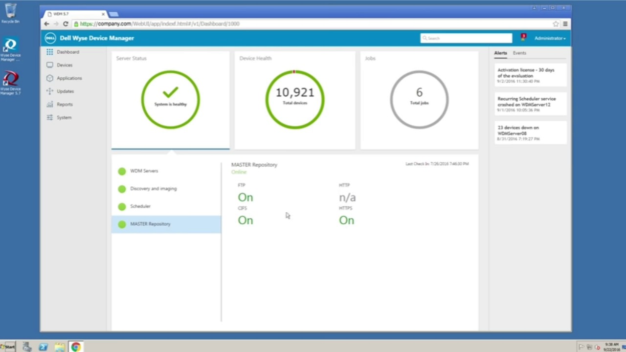 Wyse Device Manager (WDM) Dashboard Tour