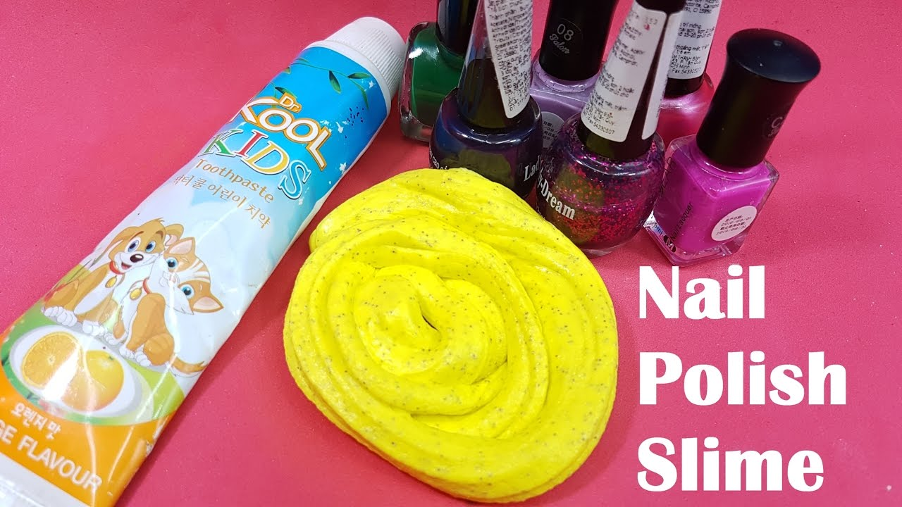 nail polish slime with toothpaste