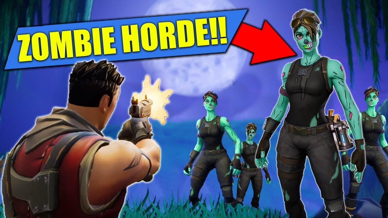 *NEW* ZOMBIE HORDE Custom Game In Fortnite Battle Royale ...