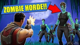 *NEW*  ZOMBIE HORDE Custom Game In Fortnite Battle Royale!