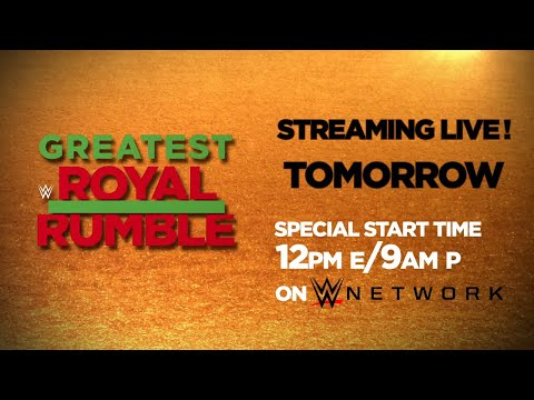 Don't miss the Greatest Royal Rumble event from Saudi Arabia tomorrow