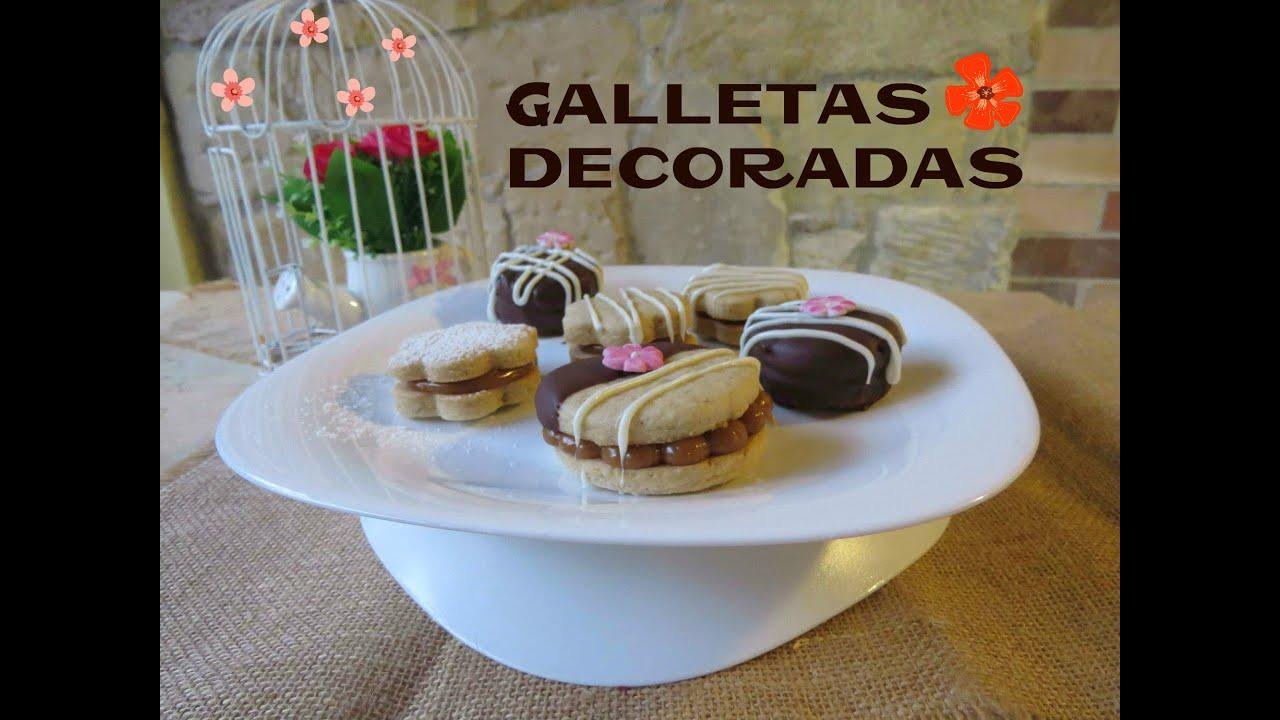 Galletas decoradas con chocolate y fondant youtube - Decoracion con chocolate ...