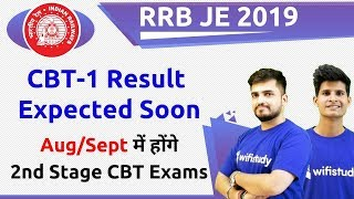RRB JE 2019 CBT-1 Result Expected Soon & CBT-2 Exam in Aug/Sept 2019