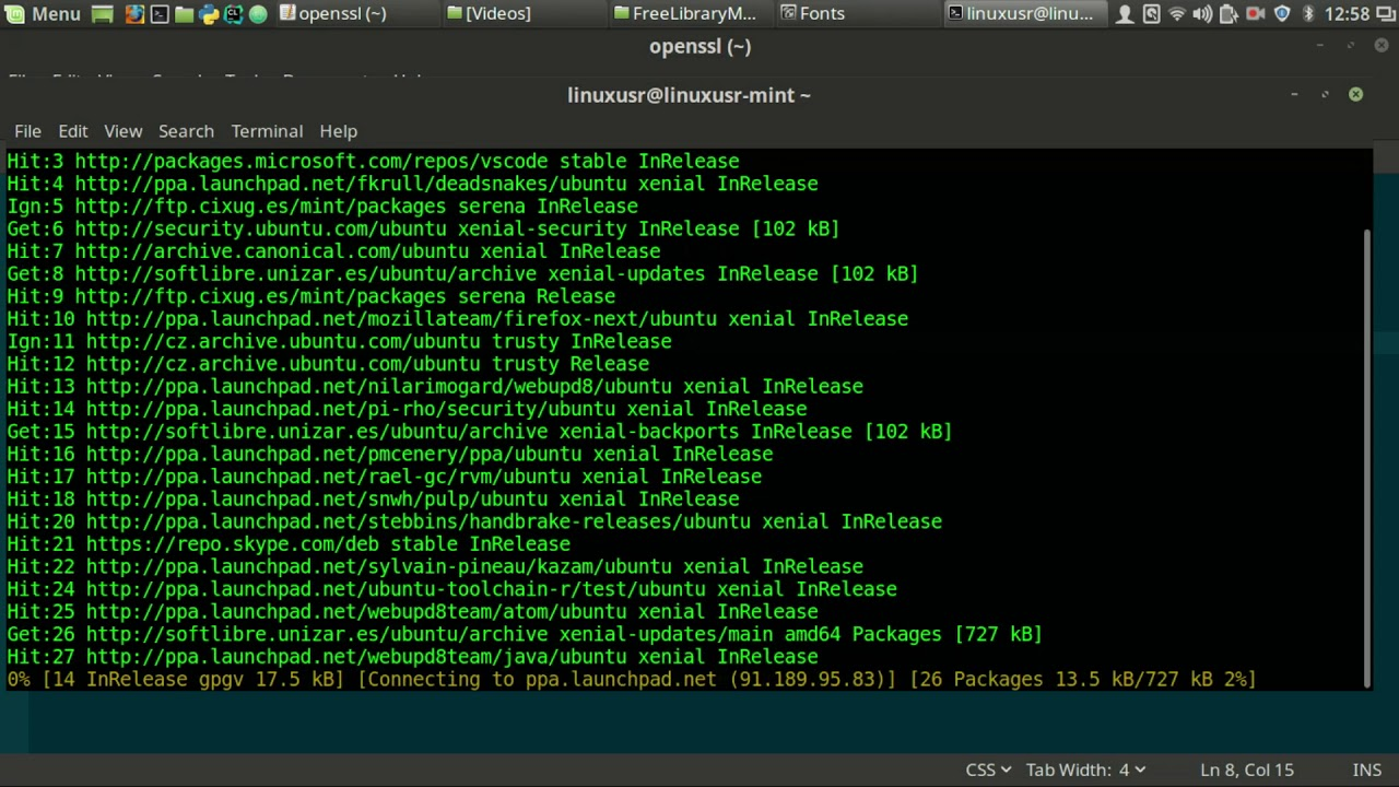 Ubuntu not updating openssl