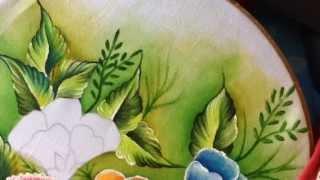 Pintando flores com Cony