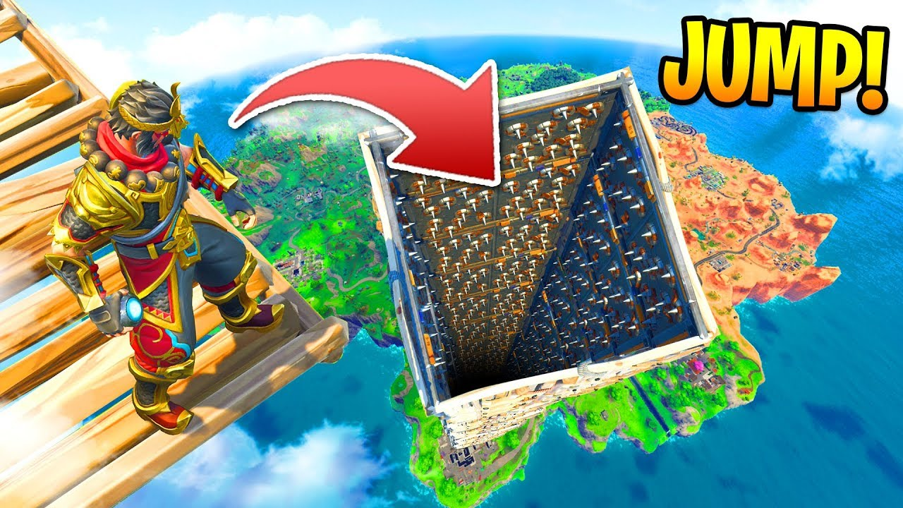 *NEW* TRAP TOWER RACE in Fortnite: Battle Royale! (Custom Mode)