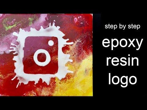 SATISFYING - How I create my Instagram logo with Epoxy Resin