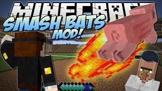 Minecraft | SMASH BATS MOD! (Play Baseball with Magic!) | Mod Showcase