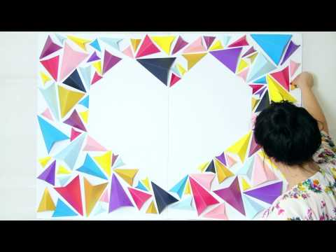 Geometric Heart Backdrop Tutorial & Altar DIY