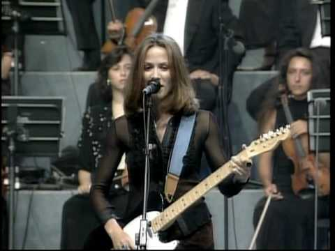 """Sheryl Crow and Eric Clapton - """"Run Baby Run"""" - Pavarotti and Friends - 1996 - live"""