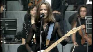 "Sheryl Crow and Eric Clapton - ""Run Baby Run"" - Pavarotti and Friends - 1996 - live"