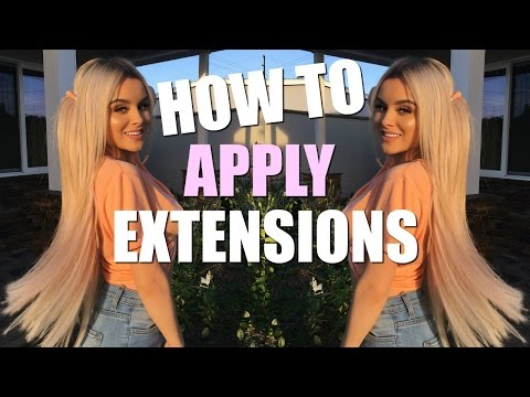 HOW I APPLY MY ZALA HAIR EXTENSIONS | Aidette Cancino