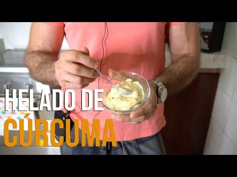 Receta Saludable Fácil - Helado de Curcuma - Mejor Que La Leche Dorada