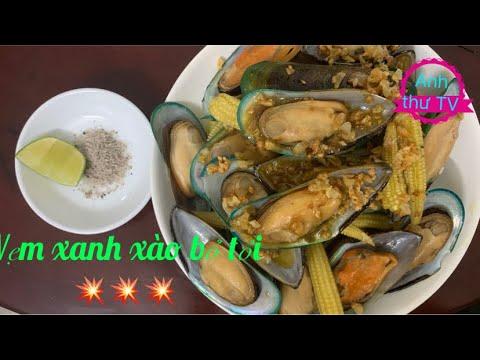 Vẹm xanh xào bơ tỏi 🧈🧄làm rất dể ăn rất ngon / Sauteed green mussel with garlic butter