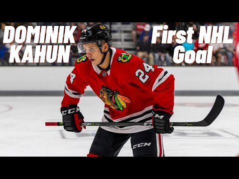 Dominik Kahun #24 (Chicago Blackhawks) first NHL goal 11/10/2018