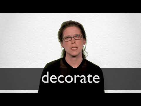 Decorate Synonyms  Collins English Thesaurus