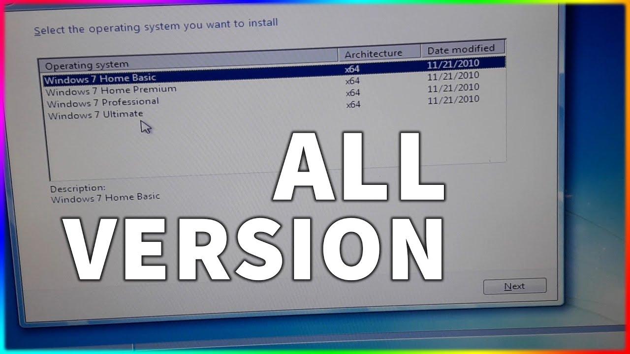 Làm sao để có được File ISO Win 7 có chứa tất cả các phiên bản?
