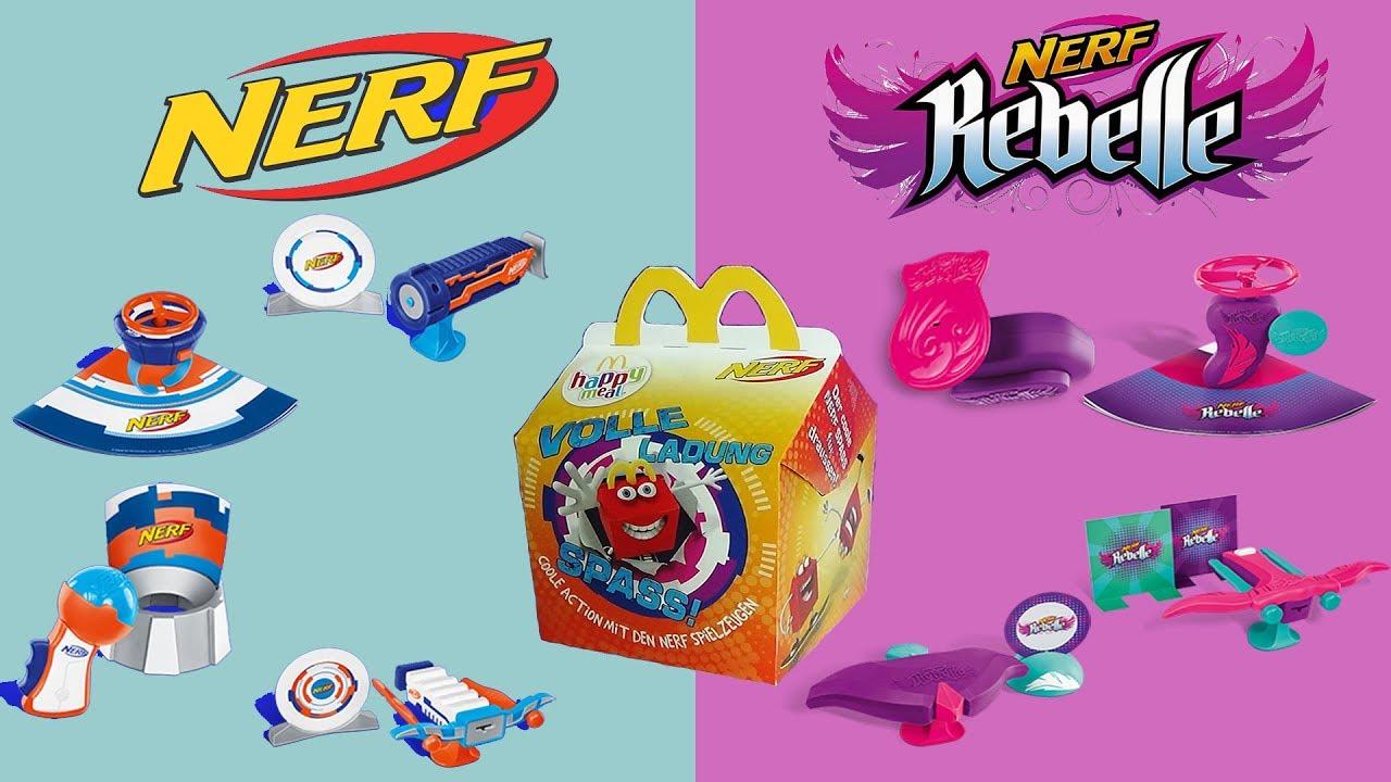 Nerf Boys Toys For Girls : Nerf rebelle happy meal blasters european kids